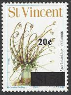 St Vincent 2003 20c Overprint On $1.50 1982 Banded Tube-dwelling Anemone Mint Stamp. Rare Only 34,950 Overprinted - St.Vincent (1979-...)