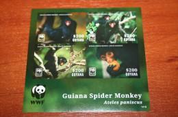 WWF Fauna Guyana  2014  Rare Mini-block Imperf !!! - W.W.F.