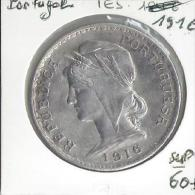 Monaie  Portugal 1 Escudo 1916  Sup   Argent - Portugal