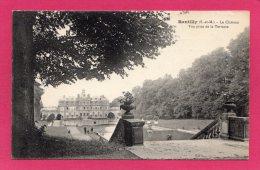 77 SEINE-ET-MARNE RENTILLY, Le Château Pris De La Terrasse, 1924, (S. L. Simonet, Bray-sur-Seine) - Francia