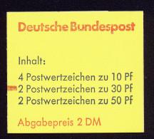 A3618) Bund Markenheftchen Mi.22I V ZB BZ ** MNH Gepr. Schmidl BPP - Markenheftchen