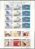 2004-ED. 4085, 86,89, 90, 92 Y 93-MINIPLIEGOS 82,83,84 EXPOSICIÓN ESPAÑA'04.VALENCIA-NUEVO - Blocs & Hojas