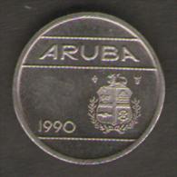 ARUBA SERIE 3 MONETE 5 10 25 CENTS 1990 - Monete