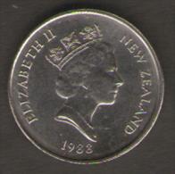 NUOVA ZELANDA 5 CENTS 1988 - Nuova Zelanda