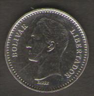 VENEZUELA 25 CENTIMOS 1989 - Venezuela