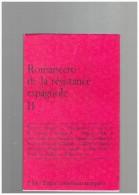 Romancero De La Resistance Espagnole. II Espagne - Cultura