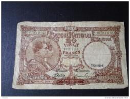Belgique 1945  Billet De 20 Fr  7-04- 1945 - [ 2] 1831-... : Belgian Kingdom