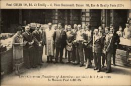 75 - PARIS - Etablissements Paul GRUIN - Visite Des Garment Retailers Americains - Détaillants De Vetements - Tissus - Arrondissement: 12