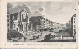 Ancien Paris : L'Eglise Saint-Roch Et La Rue Saint-Honoré (vers 1830) - Churches