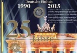 SilberEuro 25 Jahre Einheit Deutschland NB 5/2015 Mit 25 EURO+KB 3182 SST 80€ Numisblatt Ms Hb Document Sheetlet Germany - [10] Commémoratives