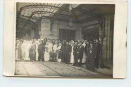 GUERRE 1914/18 LYON - Gare Brotteaux, Retour Des Blessés. (carte Photo) - Guerre 1914-18