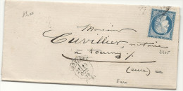 Eure - Louviers . Au Verso, Ambulant Du Meme Jour: PARIS AU HAVRE (D)   Et LE HAVRE A PARIS (G) - 1849-1876: Classic Period