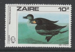 TIMBRE NEUF DU ZAIRE - MACREUSE A BEC JAUNE N° Y&T 1209 - Canards