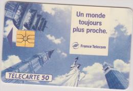 ( R) Télécarte ,un Monde Toujours Plus Proche  ,  50 Unités, 1993 - Tarjetas Telefónicas