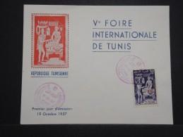 TUNISIE - Enveloppe FDC En 1957 - 5éme Foire De Tunis - A Voir - Lot P14458 - Tunisie (1956-...)