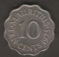 MAURITIUS 10 CENTS 1975 - Mauritius