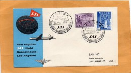 Norway 1954 Air Mail Cover Mailed To USA - Lettres & Documents