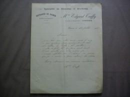LIBOURNE Mme EDGARD TRUFFY OUVRAGES DE DAMES SPECIALITE DE DENTELLES ET BRODERIES 32 AV. DU MARECHAL FOCH COURRIER 1932 - Textile & Vestimentaire
