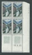 France N° 1438 XX Gorges Du Tarn  En Bloc De 4 Coin Daté Du 18 . 6 . 65, 2 Traits, Sans Charnière, TB - 1960-1969