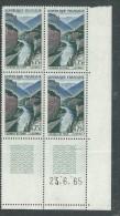 France N° 1438 XX Gorges Du Tarn  En Bloc De 4 Coin Daté Du 23 . 6 . 65, 1 Trait, Sans Charnière, TB - 1960-1969
