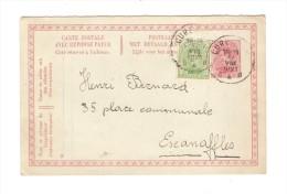 Entier CP Avec Réponse Payée  10c + TP 137 C.Cureghem En 1921 V.Escanaffles PR2445 - Stamped Stationery