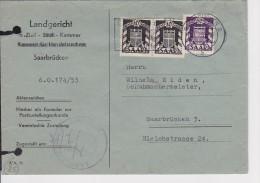 E4 /  Saarland Saar Brief Dienstmarken / 38 43 MiF Saarbrücken - 1947-56 Occupazione Alleata