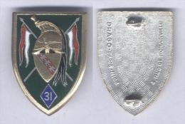 Insigne Du 31e Régiment De Dragons - Armée De Terre