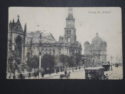 AUSTRALIE - Sydney - George St. - 1908 - Cp Avec Plis - A Voir - Lot P14480 - Non Classés