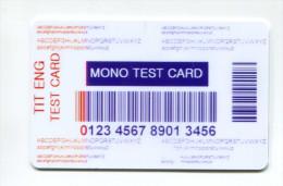 """Spécimen Essai Prototype De Carte Cadeau """"Mono Test Card"""" - Casino Cards"""
