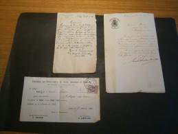 HOLLOGNE AUX PIERRES - 3 Documents RELATIFS A L'AGENT DE POLICE PIRON Datés De 1916-1925 Et 1926 - Vieux Papiers