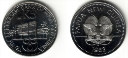 PAPUA NEW GUINEA - 5 Kina 1983 FMNATIONAL BANK - KM#23 BU Prooflike [Rare Type] - Papuasia Nuova Guinea