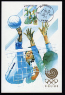 South Korea Olympics Seoul 1988 On Maximcard Volleyball. - Verano 1988: Seúl