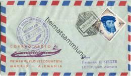 Luftpost Deutsche Lufthansa - Eröffnungsflug Madrid - Deutschland Am4.März 1959 - 1951-60 Briefe U. Dokumente