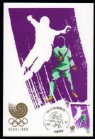 South Korea Olympics Seoul 1988 On Maximcard Fencing. - Summer 1988: Seoul