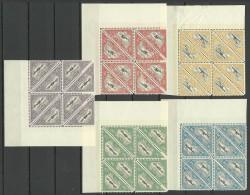 Estland Estonia 1925 Michel 48 A - 52 A In 8-blocks MNH Nice Sheet Corner Exemplares !! - Estland