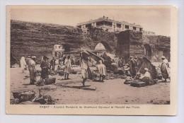 A-581, Postcard, Rabat - Anciens Remparts Du Boulevard Gouraud Et Marche Aux Fruits - Rabat