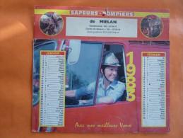 Calendrier Des POMPIERS DE MIELAN Complet Avec Ses Feuillets Détachables  Pour L´année 1983 - Big : 1981-90