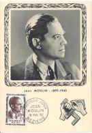 CARTE MAXIMUM 1er JOUR - N° 1100 - JEAN MOULIN - Année 1957 - 1950-59