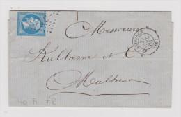 France Heimat 68 Haut-Rhin Altkirch 1866-07-27 Brief Nach Mulhouse - 1863-1870 Napoléon III Lauré