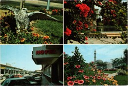 QUATAR - Multivues - Qatari Falcon, Rayan Gardens Doha, Musharib Street Doha, Grand Mosque Doha - Qatar