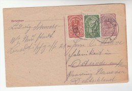 1920s  AUSTRIA 20h 10h Stamps On UPRATED 25h POSTAL STATIONERY CARD Cover - Stamped Stationery