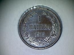 Finlande 1 Markka 1915 Silver - UNC - Finlande