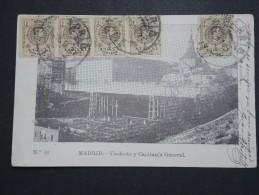 ESPAGNE - Affranchissement En Bande De 4 +1 Sur Cp De Madrid Pour La France En 1914 - A Voir - Lot P14516 - Cartas