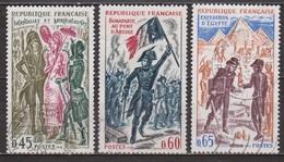 Incroyables Et Merveilleuses - FRANCE - Napoléon à Arcole, Bonaparte: Expédition D'Egypte - N° 1729-1730-1731 - 1972 - Oblitérés