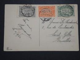 ALLEMAGNE - Obl. De Aachen Sur Cp Pour Bruxelles En 1923 - A Voir - Lot P14522 - Deutschland