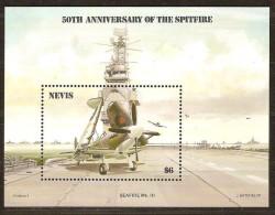 Nevis 1986 Yvertn° Bloc 8 *** MNH Cote 55 FF Aviation Vliegtuigen - St.Kitts-et-Nevis ( 1983-...)