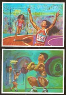 Nevis 1992 Yvertn° Bloc 47 Et 49 *** MNH Cote 100 FF Sport - St.Kitts-et-Nevis ( 1983-...)