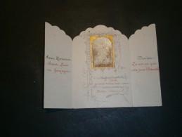 Petit Triptyque En Papier (communion?) Au Nom De Hélène STEVENART - Vieux Papiers