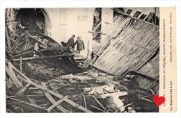 02350-LE-BELGIQUE-La Guerre 1914-17-LOO-Intérieur De L´ Eglise,dernier Bombardement-------animée - Lo-Reninge