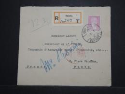 TURQUIE - Enveloppe En Recommandée De Galata Pour Paris - A Voir - Lot P14527 - 1921-... Republiek